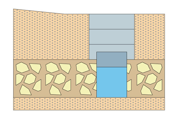 План-схема колодца